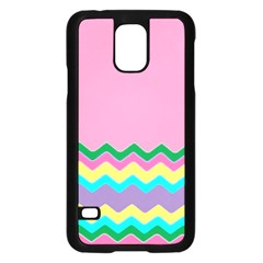 Easter Chevron Pattern Stripes Samsung Galaxy S5 Case (black)