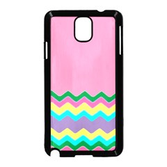 Easter Chevron Pattern Stripes Samsung Galaxy Note 3 Neo Hardshell Case (black)