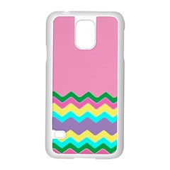 Easter Chevron Pattern Stripes Samsung Galaxy S5 Case (white)
