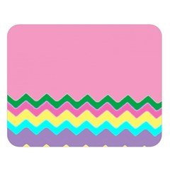 Easter Chevron Pattern Stripes Double Sided Flano Blanket (Large)
