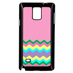 Easter Chevron Pattern Stripes Samsung Galaxy Note 4 Case (black)