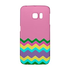 Easter Chevron Pattern Stripes Galaxy S6 Edge