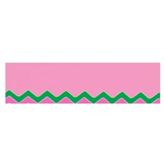 Easter Chevron Pattern Stripes Satin Scarf (oblong)