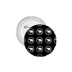 Elephant Wallpaper Pattern 1.75  Buttons