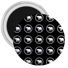 Elephant Wallpaper Pattern 3  Magnets