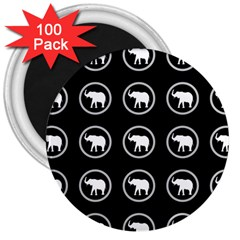 Elephant Wallpaper Pattern 3  Magnets (100 Pack)