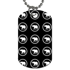 Elephant Wallpaper Pattern Dog Tag (one Side)