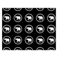 Elephant Wallpaper Pattern Rectangular Jigsaw Puzzl