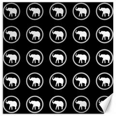 Elephant Wallpaper Pattern Canvas 20  X 20