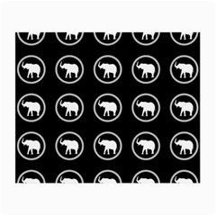 Elephant Wallpaper Pattern Small Glasses Cloth (2 Side)