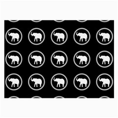 Elephant Wallpaper Pattern Large Glasses Cloth (2 Side)