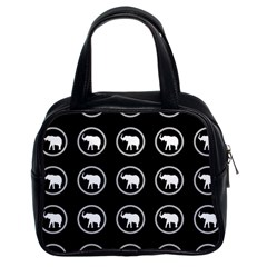 Elephant Wallpaper Pattern Classic Handbags (2 Sides)