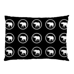 Elephant Wallpaper Pattern Pillow Case