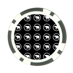 Elephant Wallpaper Pattern Poker Chip Card Guard (10 Pack)