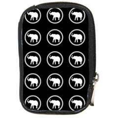 Elephant Wallpaper Pattern Compact Camera Cases