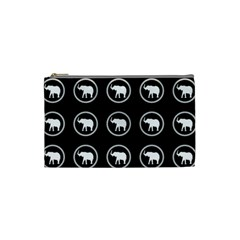 Elephant Wallpaper Pattern Cosmetic Bag (small)