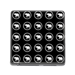 Elephant Wallpaper Pattern Memory Card Reader (Square)