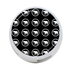 Elephant Wallpaper Pattern 4 Port Usb Hub (two Sides)