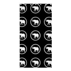Elephant Wallpaper Pattern Shower Curtain 36  X 72  (stall)