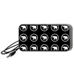 Elephant Wallpaper Pattern Portable Speaker (black)