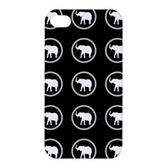 Elephant Wallpaper Pattern Apple Iphone 4/4s Hardshell Case