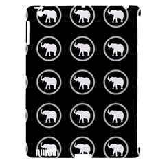 Elephant Wallpaper Pattern Apple Ipad 3/4 Hardshell Case (compatible With Smart Cover)