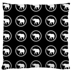 Elephant Wallpaper Pattern Large Cushion Case (two Sides)