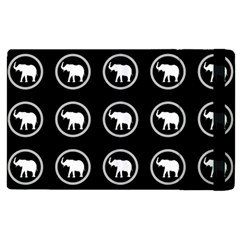 Elephant Wallpaper Pattern Apple iPad 3/4 Flip Case
