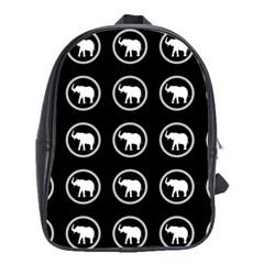 Elephant Wallpaper Pattern School Bags (xl)