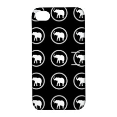 Elephant Wallpaper Pattern Apple Iphone 4/4s Hardshell Case With Stand