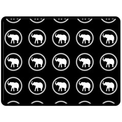 Elephant Wallpaper Pattern Double Sided Fleece Blanket (large)