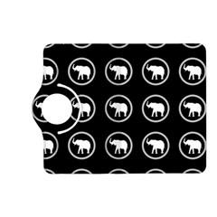 Elephant Wallpaper Pattern Kindle Fire Hd (2013) Flip 360 Case