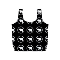 Elephant Wallpaper Pattern Full Print Recycle Bags (s)