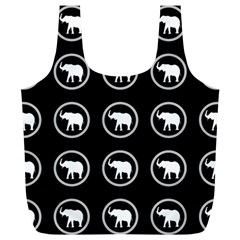 Elephant Wallpaper Pattern Full Print Recycle Bags (l)