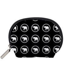 Elephant Wallpaper Pattern Accessory Pouches (small)