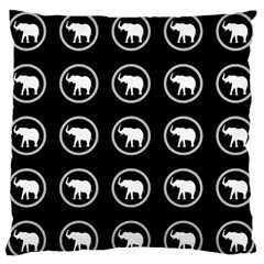 Elephant Wallpaper Pattern Large Flano Cushion Case (two Sides)
