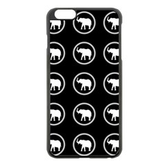 Elephant Wallpaper Pattern Apple Iphone 6 Plus/6s Plus Black Enamel Case