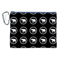 Elephant Wallpaper Pattern Canvas Cosmetic Bag (xxl)
