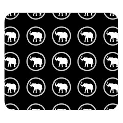 Elephant Wallpaper Pattern Double Sided Flano Blanket (Small)