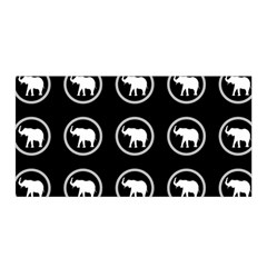 Elephant Wallpaper Pattern Satin Wrap
