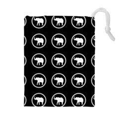 Elephant Wallpaper Pattern Drawstring Pouches (extra Large)