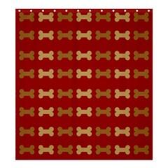 Dog Bone Background Dog Bone Pet Shower Curtain 66  X 72  (large)