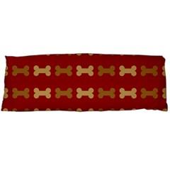 Dog Bone Background Dog Bone Pet Body Pillow Case (dakimakura)