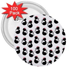 Cat Seamless Animal Pattern 3  Buttons (100 Pack)