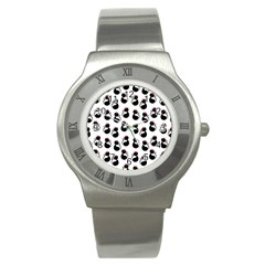 Cat Seamless Animal Pattern Stainless Steel Watch