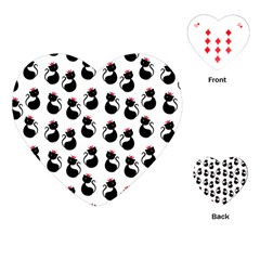 Cat Seamless Animal Pattern Playing Cards (heart)