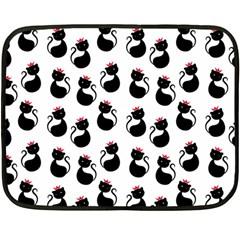 Cat Seamless Animal Pattern Double Sided Fleece Blanket (mini)