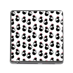 Cat Seamless Animal Pattern Memory Card Reader (square)