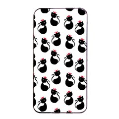 Cat Seamless Animal Pattern Apple iPhone 4/4s Seamless Case (Black)