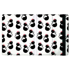 Cat Seamless Animal Pattern Apple Ipad 2 Flip Case